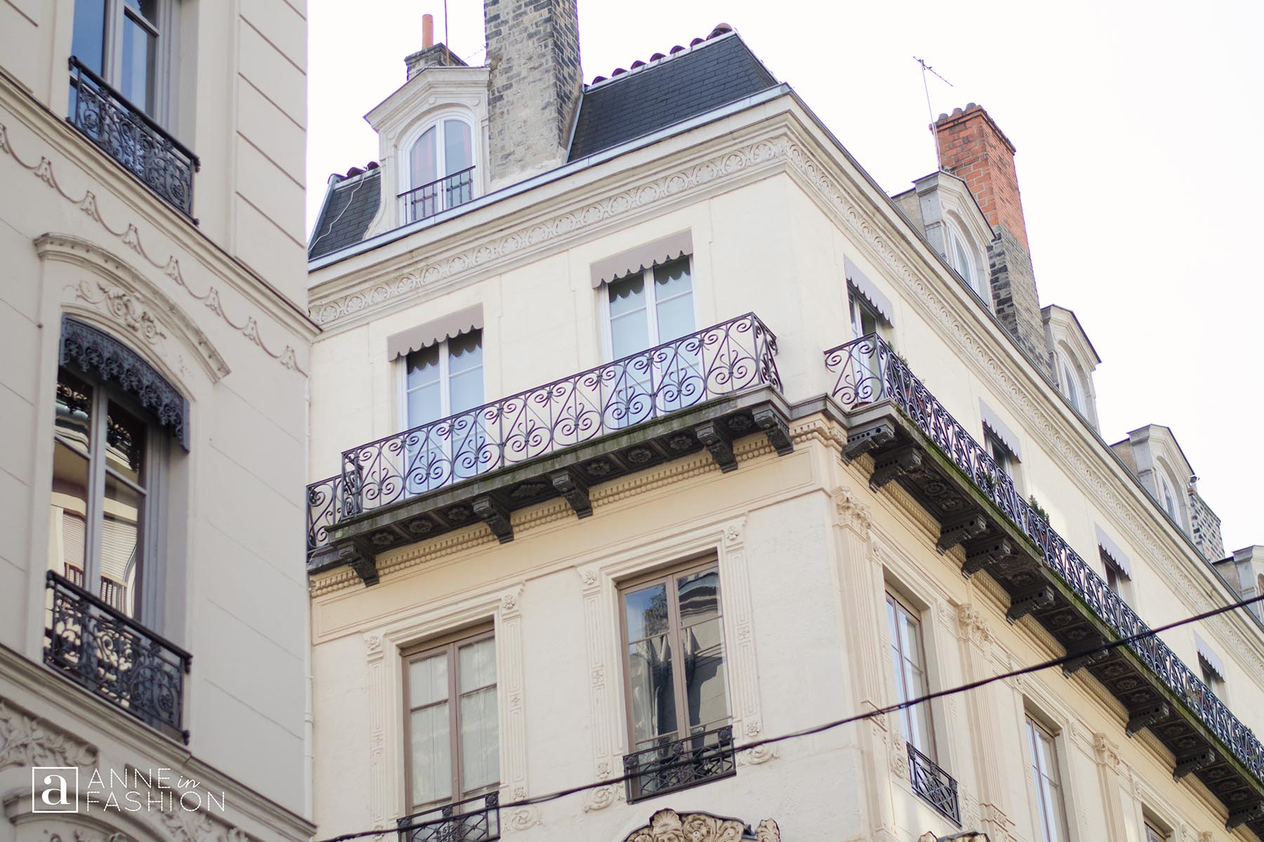 Windows and balconies of Apartments Lyon France