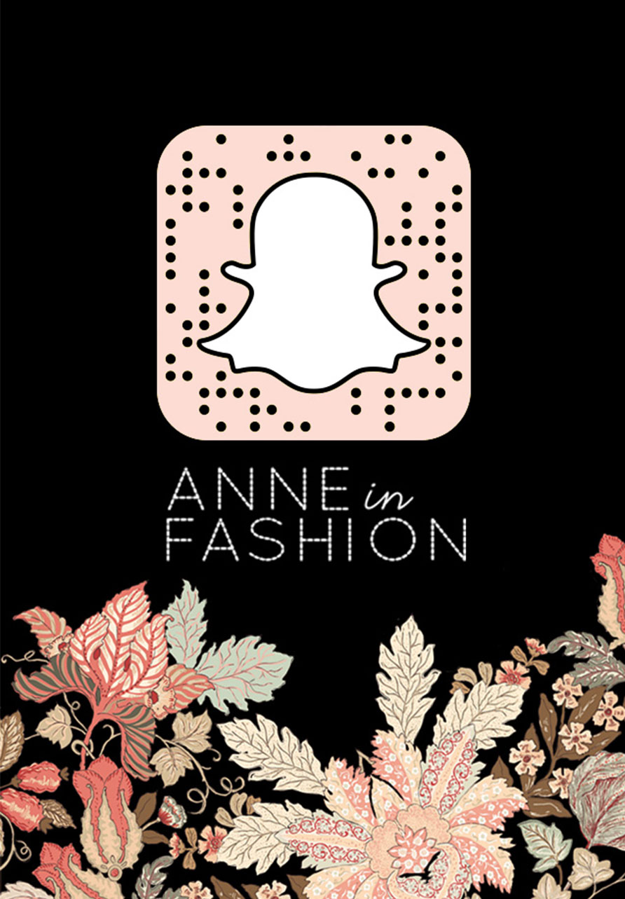 ANNE in FASHION snapchat ghost code inspired by Burberry